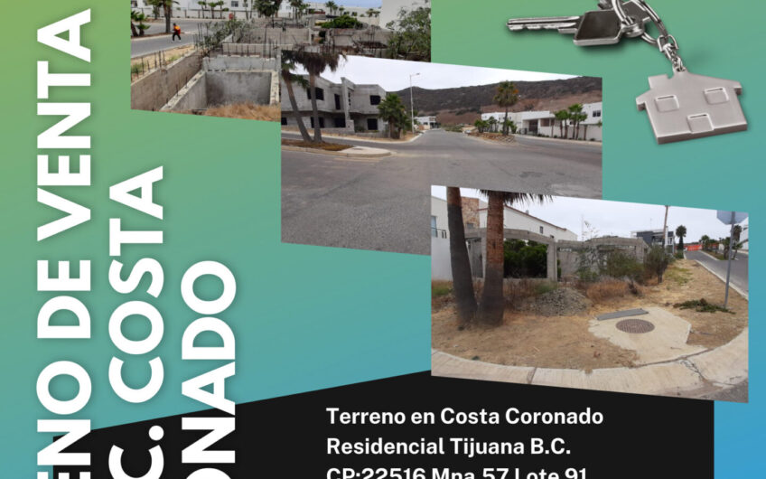 Terreno en Residencial Costa Coronado